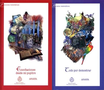 Portadas de los libros de los Concursos Literarios RSME-ANAYA 2008