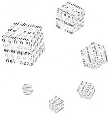 Poema visual Dados