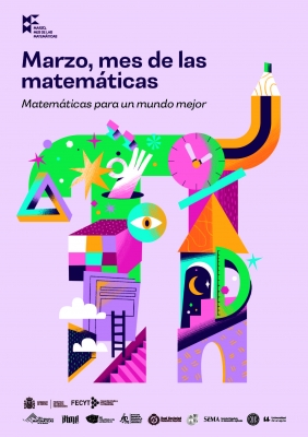 """Cartel de """"Marzo, mes de las matemáticas"""""""