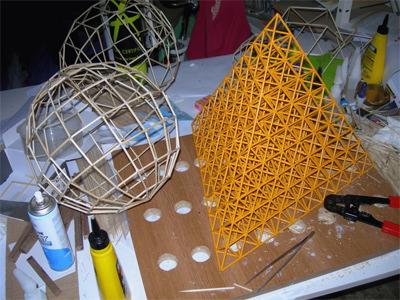 Bricolaje matemático con palillos de bambú